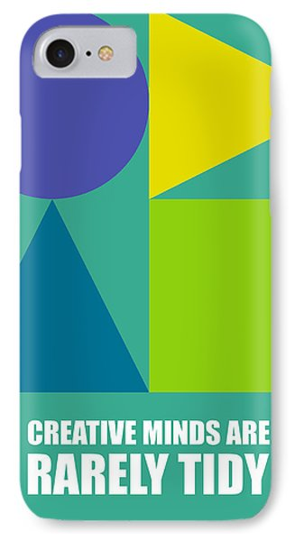 Creative Minds Poster Phone Case by Naxart Studio
