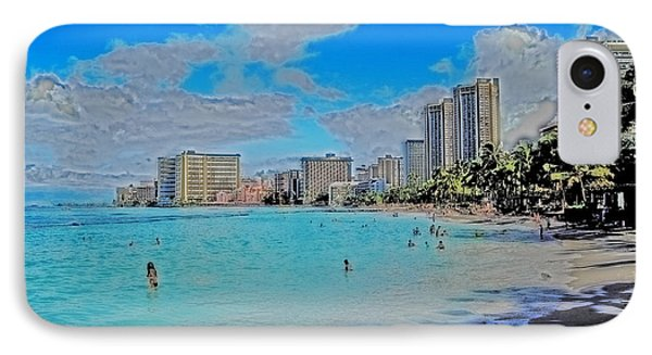 IPhone Case featuring the photograph Creative Waikiki by Caroline Stella