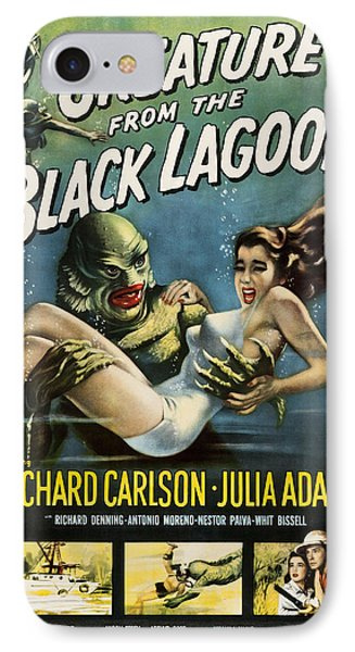 Creature From The Black Lagoon IPhone Case by Allen Beilschmidt