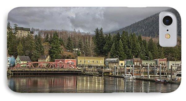 Creek Street V11414 IPhone Case by Timothy Latta