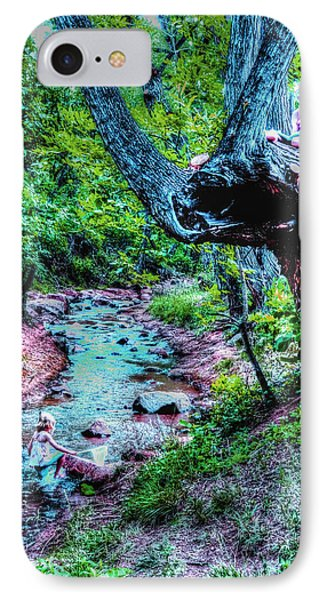 IPhone Case featuring the photograph Creek Time Enchantment by Lanita Williams