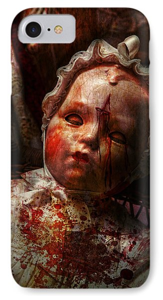 Creepy - Doll - It's Best To Let Them Sleep  Phone Case by Mike Savad