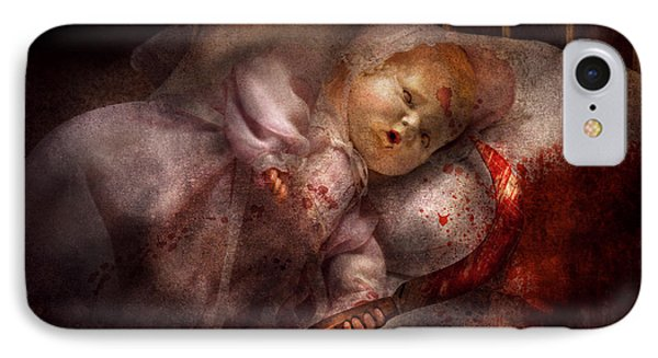 Creepy - Doll - Night Terrors Phone Case by Mike Savad