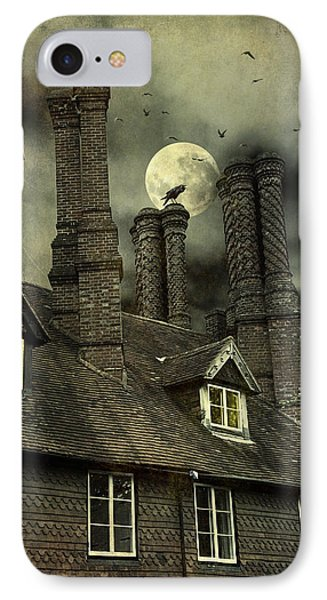 IPhone Case featuring the photograph Creepy Old House With Tall Chimney's by Ethiriel  Photography