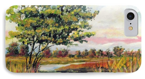 Crepe Myrtle In The Wetlands IPhone Case by Jim Phillips