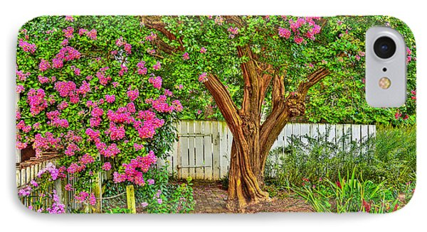 IPhone Case featuring the photograph Crepe Myrtle In Wiliamsburg Garden by Jerry Gammon