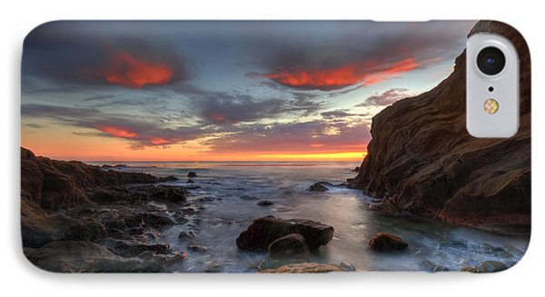 Crescent Bay Cove At Dusk Phone Case by Eddie Yerkish