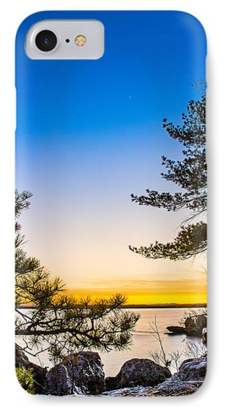 Crescent Moon Sunset IPhone Case by Robert Clifford