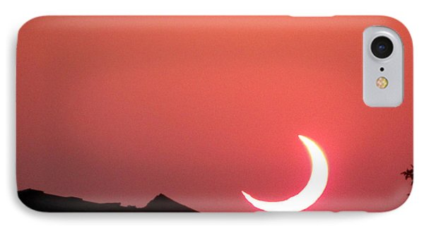IPhone Case featuring the photograph Crescent Sunset by Tom DiFrancesca