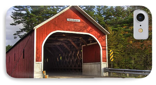 Cresson Covered Bridge 2 IPhone Case by Joann Vitali