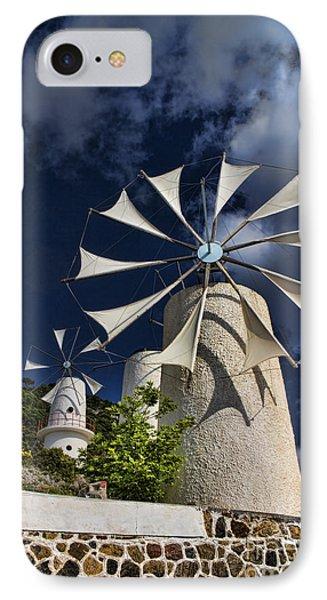 Creton Windmills IPhone Case by David Smith