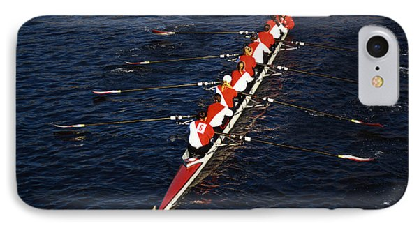 Crew Boat At Head Of Charles Regatta IPhone Case by Panoramic Images