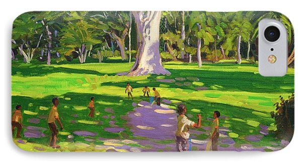 Cricket Match St George Granada Phone Case by Andrew Macara