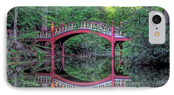 Crim Dell Bridge In Summer IPhone Case by Jerry Gammon