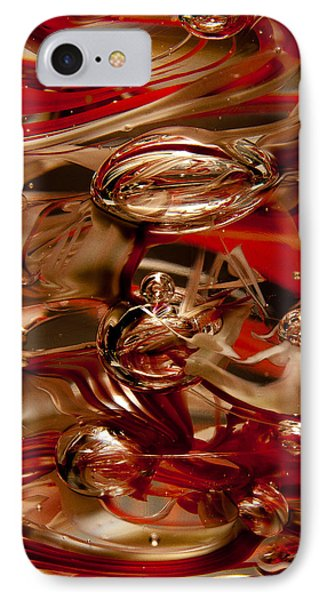 Crimson And Gray Glass Macro Ws2 Phone Case by David Patterson