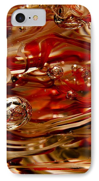 Crimson And Gray Glass Macro Ws6 Phone Case by David Patterson