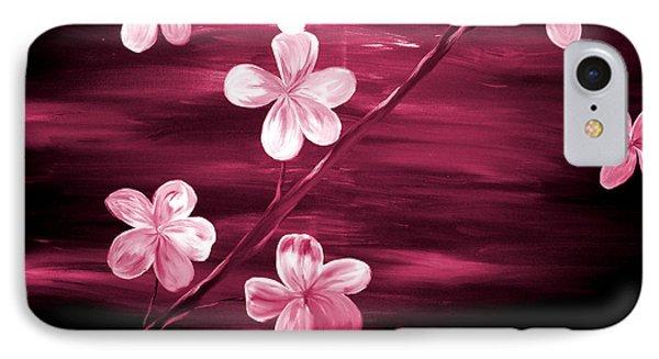 Crimson Cherry Blossom Phone Case by Mark Moore