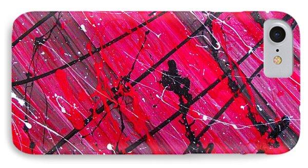 Crimson Distortion 1 IPhone Case