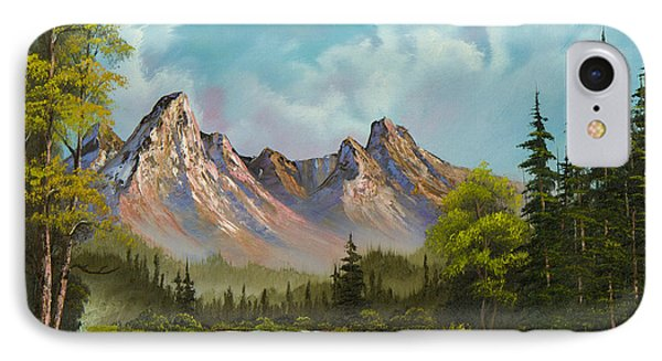 Crimson Mountains IPhone Case by C Steele