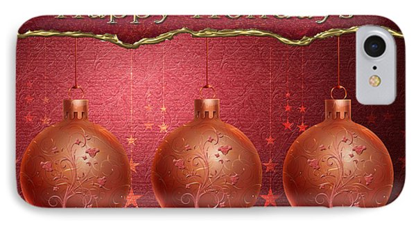 Crimson Ornaments Phone Case by Arline Wagner