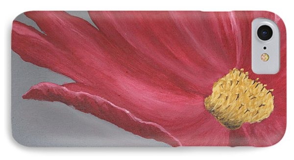 Crimson Red Garden Cosmos IPhone Case by Christiane Schulze Art And Photography