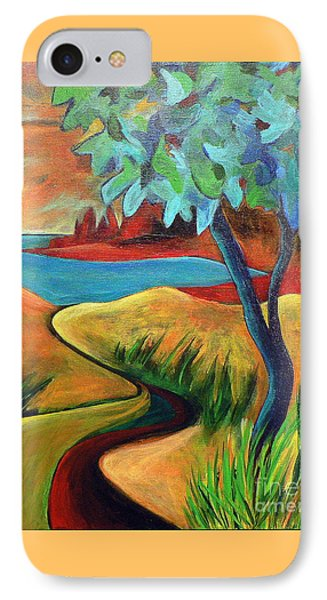 Crimson Shore IPhone Case by Elizabeth Fontaine-Barr