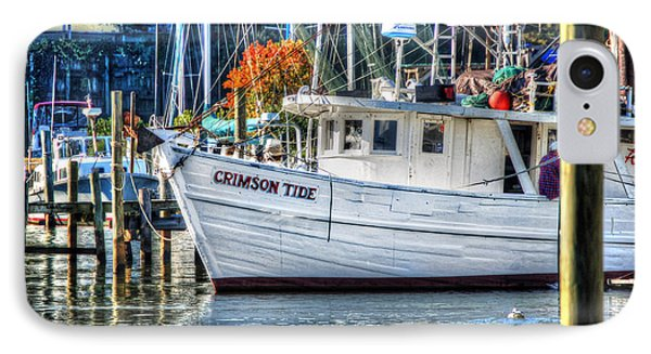 Crimson Tide In Harbor Phone Case by Michael Thomas