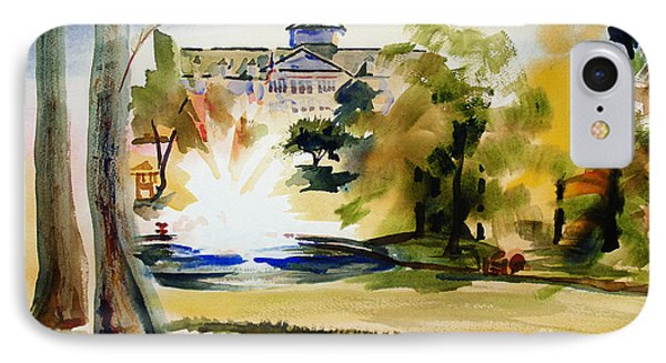 Crisp Water Fountain At The Baptist Home II Phone Case by Kip DeVore