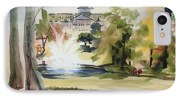 Crisp Water Fountain At The Baptist Home  Phone Case by Kip DeVore
