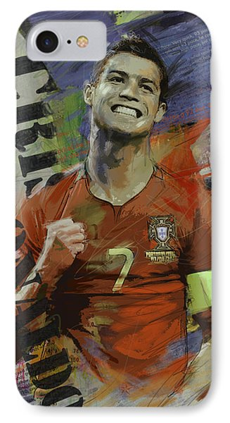Cristiano Ronaldo - B IPhone Case by Corporate Art Task Force