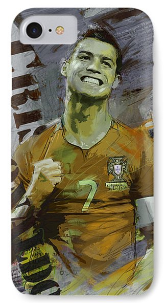 Cristiano Ronaldo IPhone Case by Corporate Art Task Force