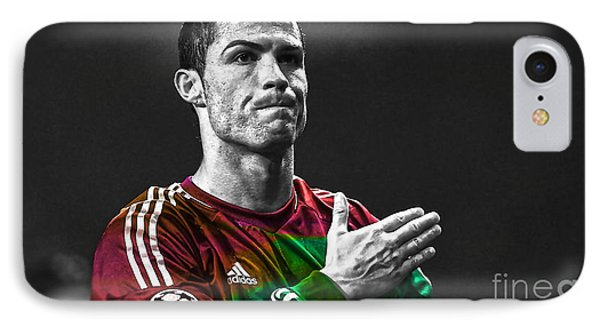Cristiano Ronaldo IPhone Case by Marvin Blaine