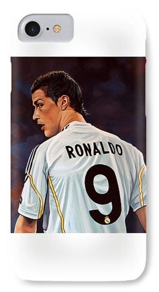 Cristiano Ronaldo IPhone 7 Case by Paul Meijering