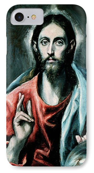 Cristo Salvator Mundi IPhone Case by El Greco