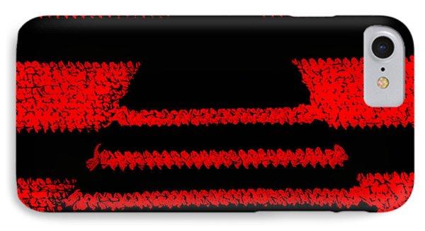 Crochet Pyramid Digitally Manipulated Phone Case by Kerstin Ivarsson