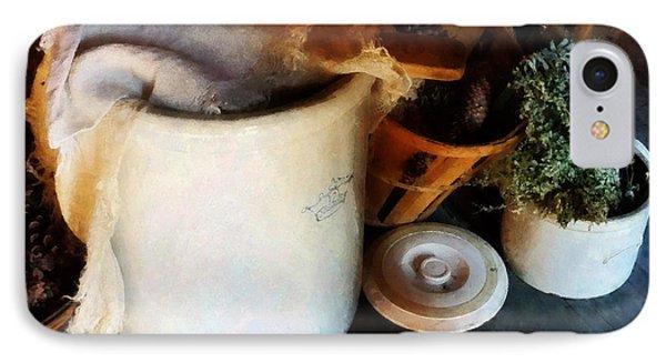 Crock And Basket Phone Case by Susan Savad