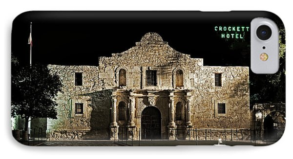IPhone Case featuring the photograph Crockett Hotel by Andy Crawford