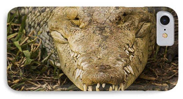 Crocodile Phone Case by Aged Pixel