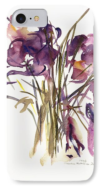 Crocus IPhone Case by Claudia Hutchins-Puechavy