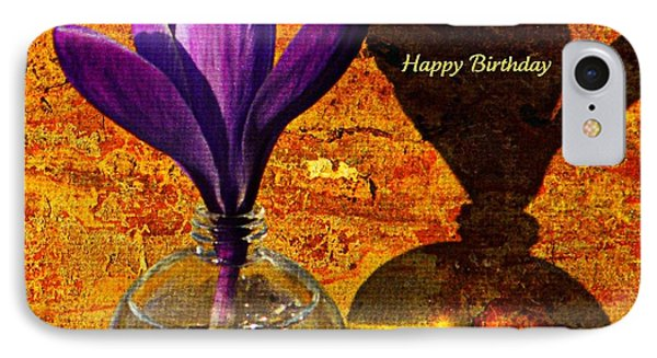Crocus Floral Birthday Card IPhone Case