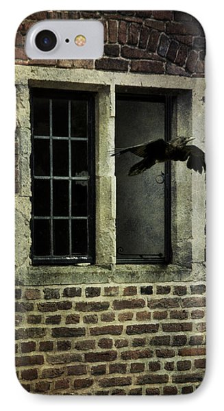 IPhone Case featuring the photograph Croe Flying Out Of  Window by Ethiriel  Photography