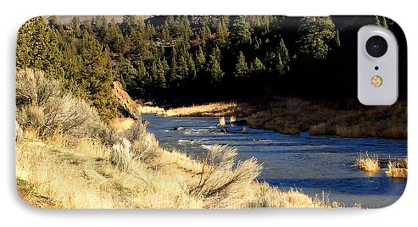 Crooked River December Morning IPhone Case by Nancy Merkle