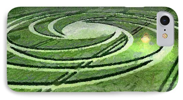 Crop Circles In Field IPhone Case by Georgi Dimitrov