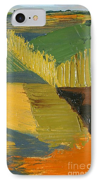 IPhone Case featuring the painting Crop Fields by Erin Fickert-Rowland