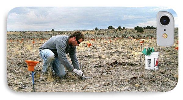 Crop Seedling Research IPhone Case by Lori Ziegenhagen/us Department Of Agriculture