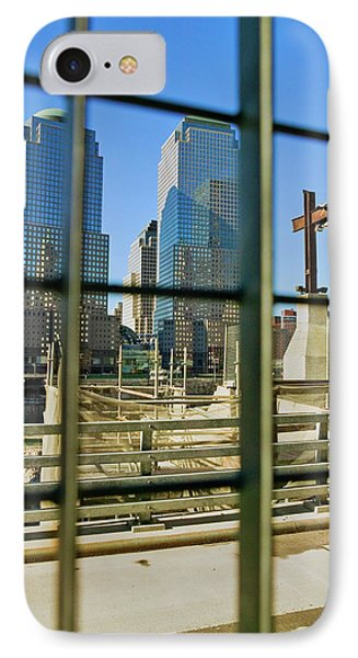 Cross At World Trade Towers Memorial IPhone Case