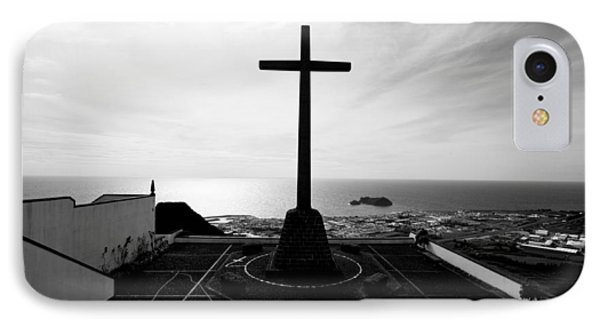 Cross Atop Old Chapel In Village  IPhone Case