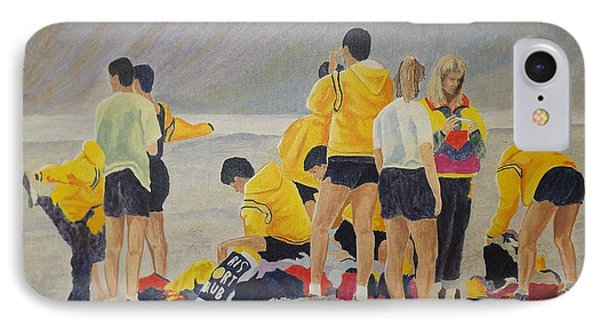 Cross Country Beach Run IPhone Case by Richard Faulkner