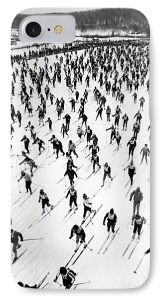 Cross Country Ski Race IPhone Case by Underwood Archives