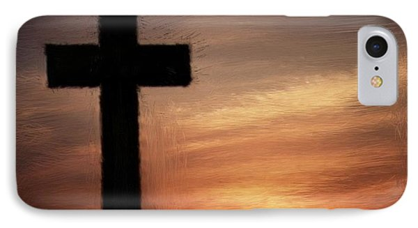 Cross In The Sunset IPhone Case by Bruce Nutting